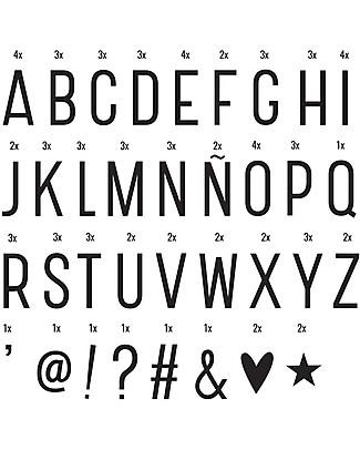 A Little Lovely Company Lightbox Letters & Symbols Set, Black Bedside Lamps