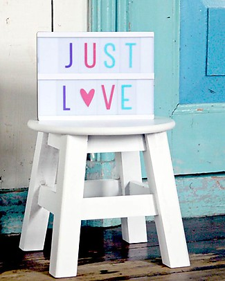 A Little Lovely Company Lightbox Letters & Symbols Set, Pastel Colors Bedside Lamps