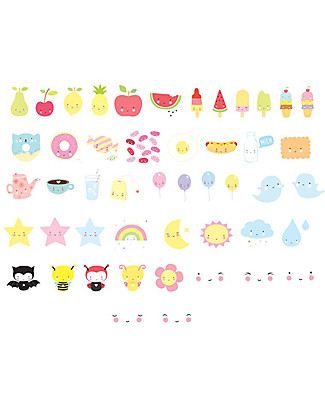 A Little Lovely Company Lightbox Symbol Set, Kawaii Bedside Lamps