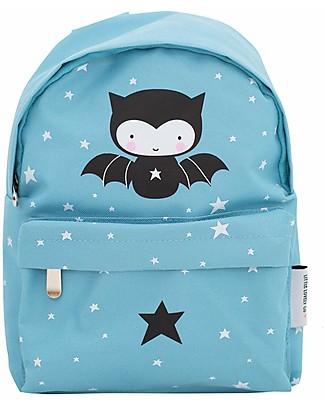 A Little Lovely Company Little Backpack, Bat, 20.5 x 28 x 12.5 cm - Light Blue null
