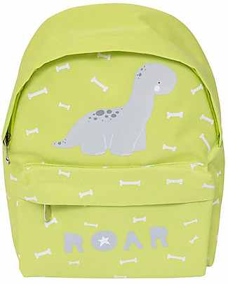 A Little Lovely Company Little Backpack, Brontosaurus, 30 x 20 x 10 cm - Green Small Backpacks