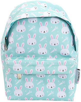 A Little Lovely Company Little Backpack, Rabbits, 30 x 27 x 13 cm - Mint null