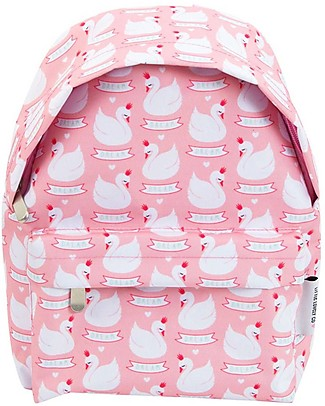 A Little Lovely Company Little Backpack, Swan, 30 x 27 x 13 cm - Pink Large Backpacks
