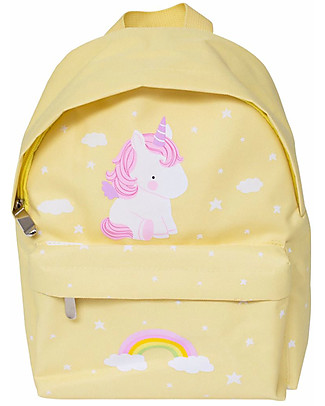 A Little Lovely Company Little Backpack, Unicorn, 30 x 20 x 10 cm - Yellow null
