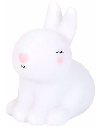 A Little Lovely Company Little LED Light, Bunny - White Bedside Lamps