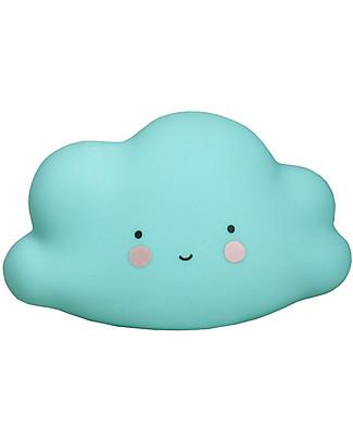 A Little Lovely Company Little LED Light, Cloud - Blue Bedside Lamps