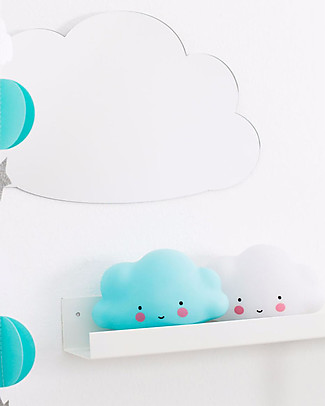 A Little Lovely Company Little LED Light, Cloud - Blue Bedside Lamps