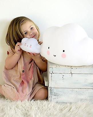 A Little Lovely Company Little LED Light, Cloud - White Bedside Lamps