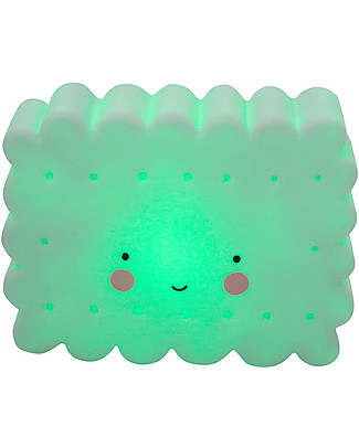 A Little Lovely Company Little LED Light, Cookie - Mint Bedside Lamps