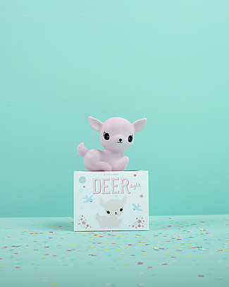 A Little Lovely Company Little LED Light, Deer - Pink Bedside Lamps