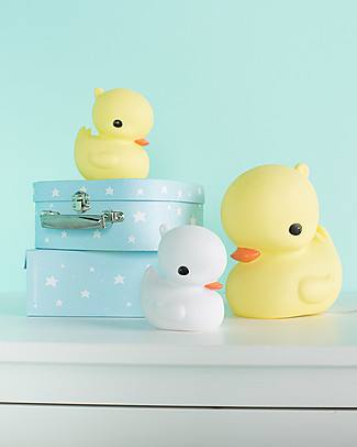 A Little Lovely Company Little LED Light, Duck - White Bedside Lamps