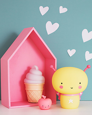 A Little Lovely Company Little LED Light, Ice Cream - White Bedside Lamps