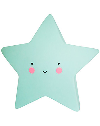 A Little Lovely Company Little LED Light, Star - Mint Bedside Lamps