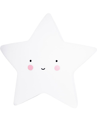 A Little Lovely Company Little LED Light, Star - White Bedside Lamps