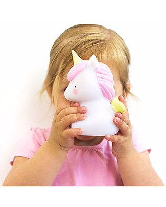 A Little Lovely Company Little LED Light, Unicorn - White and Pink Bedside Lamps