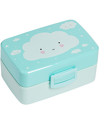A Little Lovely Company Lunch Box, Cloud - BPA Free! null
