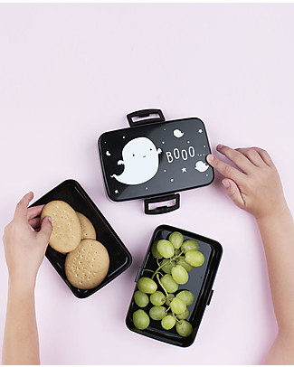 A Little Lovely Company Lunch Box, Ghost - BPA Free! Snack and Formula Containers