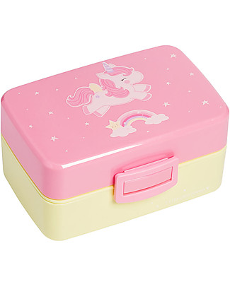 A Little Lovely Company Lunch Box, Unicorn - BPA Free! Snack and Formula Containers