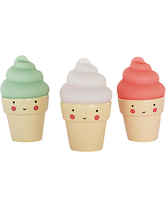 A Little Lovely Company Minis, 3 Icecream - White/Green/Red Room Decorations