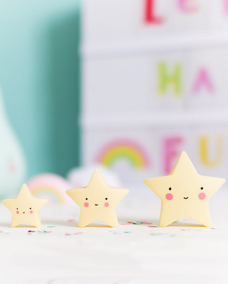 A Little Lovely Company Minis, 3 Little Stars - Yellow Room Decorations