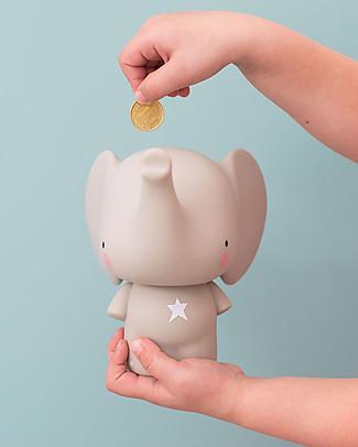 A Little Lovely Company Moneybox, Elephant - Grey Money Box