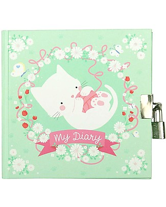 A Little Lovely Company My Diary, Cat - with included Padlock! Diaries