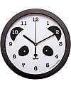 A Little Lovely Company Panda Clock, Black - With numbers! Room Decorations