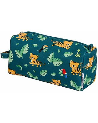 A Little Lovely Company Pencil Case, Jungle Tiger - With Zipper Pencil Cases