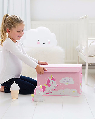 A Little Lovely Company Pop-up Box, Unicorn - Pink Toy Storage Boxes