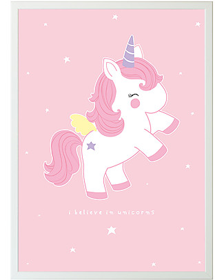 A Little Lovely Company Poster Baby Unicorn - 50x70cm Posters