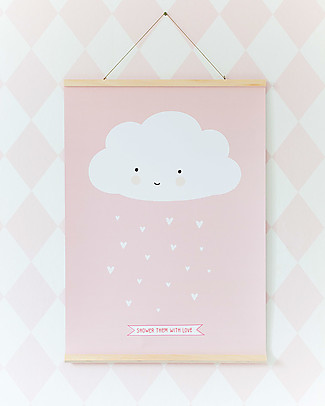 A Little Lovely Company Poster Cloud Pink - 50x70 cm Posters