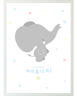 A Little Lovely Company Poster Grey Elephant - 50x70 cm Posters