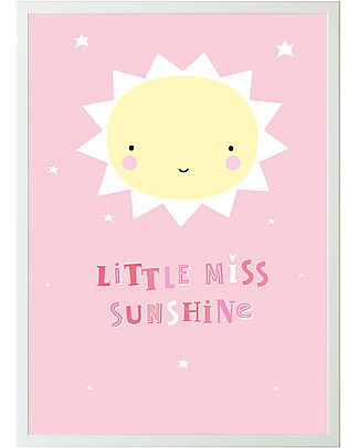 A Little Lovely Company Poster, Miss Sunshine - Pink/Yellow Posters