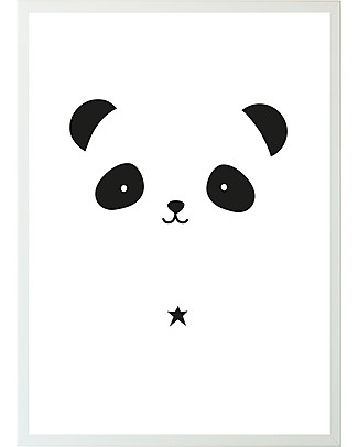 A Little Lovely Company Poster, Panda - Black and White Posters