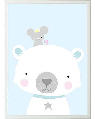 A Little Lovely Company Poster Polar bear & Co - 50x70 cm Posters