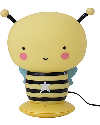 A Little Lovely Company Rechargeable Night Light, Bee - Black & Yellow Bedside Lamps