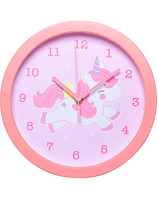 A Little Lovely Company Unicorn Clock - Pink - WIth numbers! Room Decorations