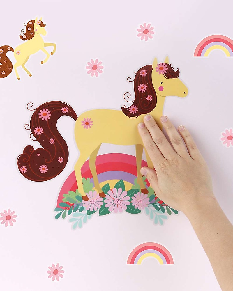 Stickers Per Bambini.A Little Lovely Company Wall Stickers Horse 17 Stickers