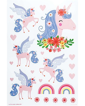 A Little Lovely Company Wall Stickers, Unicorn - 23 Stickers Wall Stickers
