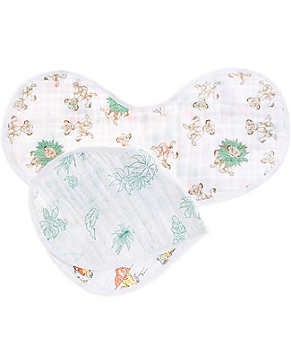Aden & Anais Set of 2 Burpy Bibs® - Disney Lion King - 100% Cotton Muslin Burpy Bibs
