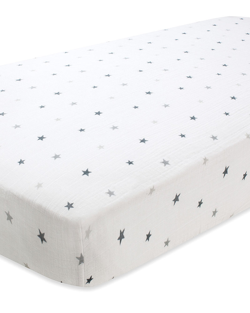 9fa7e4a5df6f Aden   Anais Twinkle Fitted Cot Sheet - 100% Cotton Muslin unisex ...