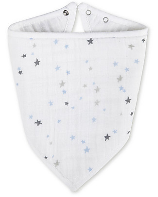 Aden & Anais Bandana Bib Night Sky - 100% cotton muslin (super soft and absorbent) Bandana Bibs