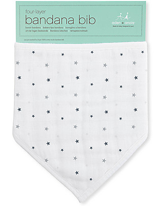 Aden & Anais Bandana Bib Twinkle - 100% cotton muslin (super soft and absorbent) Bandana Bibs