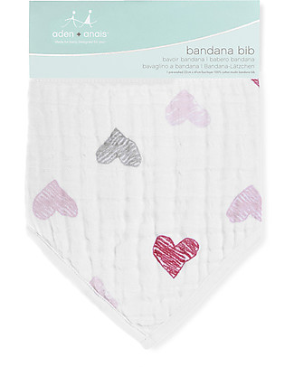 Aden & Anais Classic Bandana Bib, Love Bird - 100% cotton muslin (super soft and absorbent) Bandana Bibs