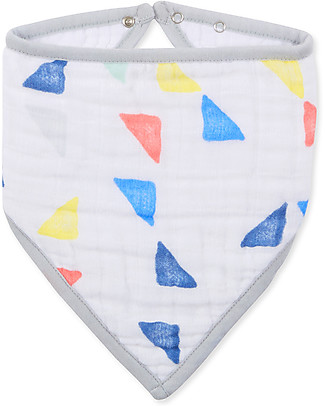 Aden & Anais Classic Bandana Bib, Triangles - 100% cotton muslin (super soft and absorbent) Bandana Bibs