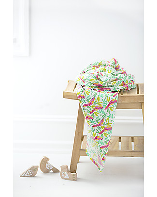 Aden & Anais Classic Swaddle Single - Birds of Paradise - 100% Cotton Muslin Swaddles