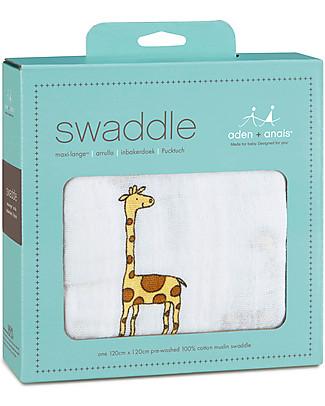 Aden & Anais Classic Swaddle Single - Jungle Jam - 100% Cotton Muslin Swaddles