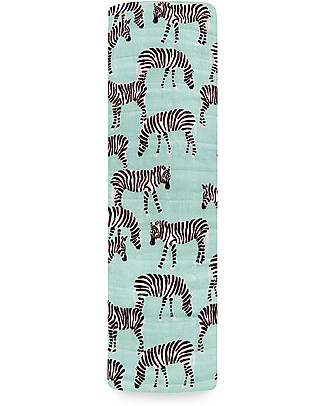 Aden & Anais Classic Swaddle Single - Mod Zebra - 100% Cotton Muslin Swaddles