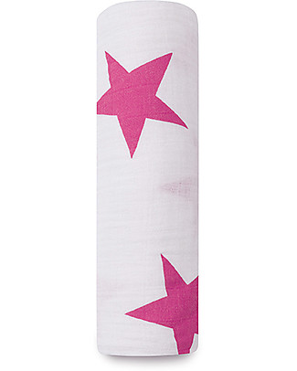 Aden & Anais Classic Swaddle Single - Twinkle Pink - 100% Cotton Muslin Swaddles