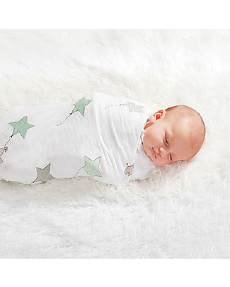 Aden & Anais Classic Swaddle Single - Up Up and Away - 100% Cotton Muslin Swaddles